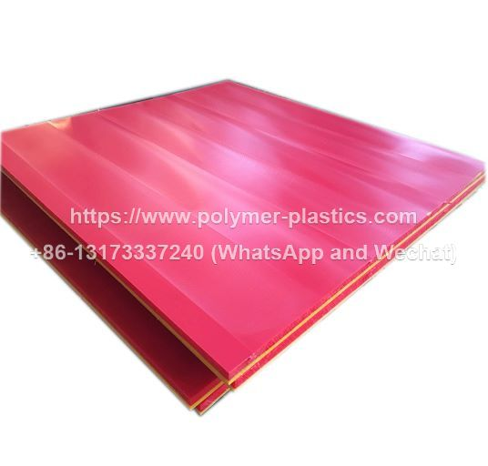dual colored uhmwpe sheet