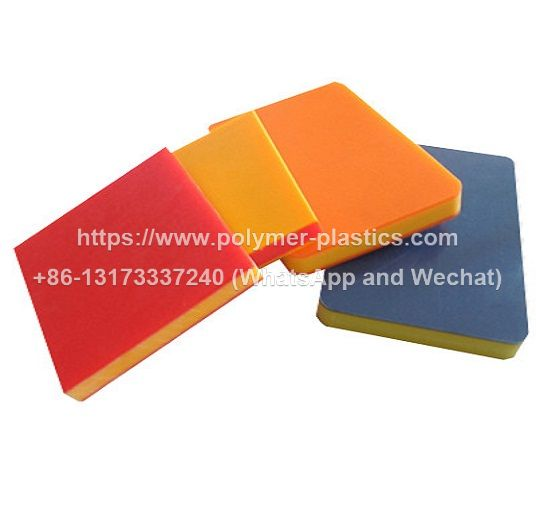 mould pressed dual color uhmwpe