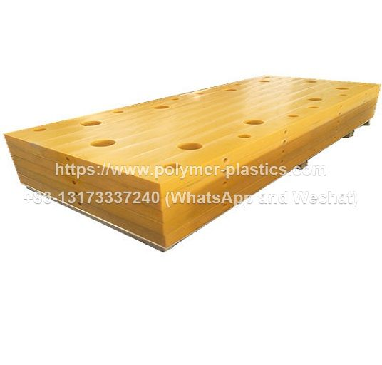 yellow color uhmwpe fender pad for Panama project