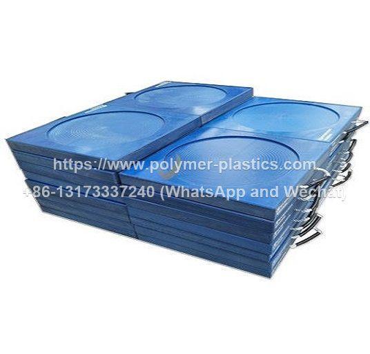 blue color uhmwpe outrigger pad