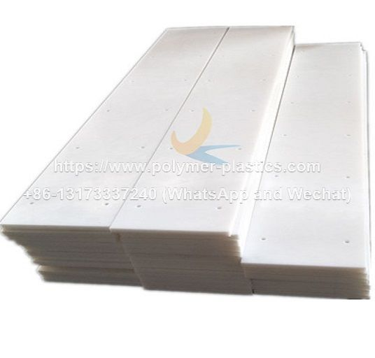 white color uhmwpe wear strip for conveyor chain guide
