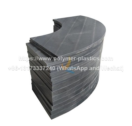 uhmwpe curved track for guide rail of chain conveyors