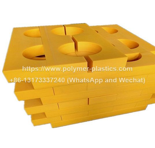 uhmwpe pipe and pipeline support and spacer