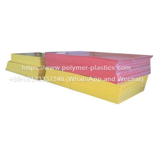 yellow hdpe sheet and red hdpe sheet