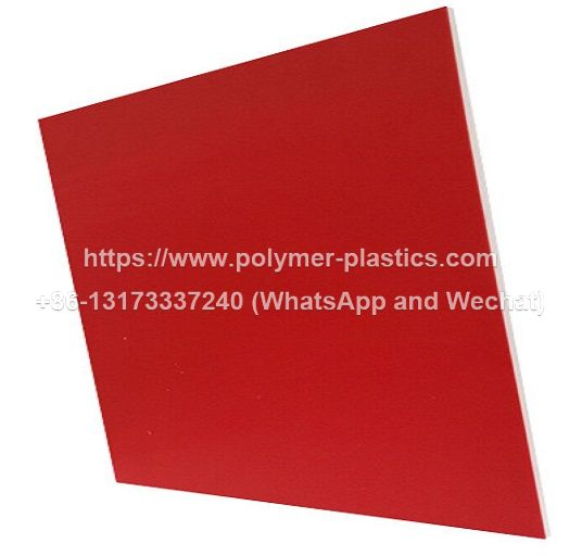 red/white/red 3 layer hdpe sheet