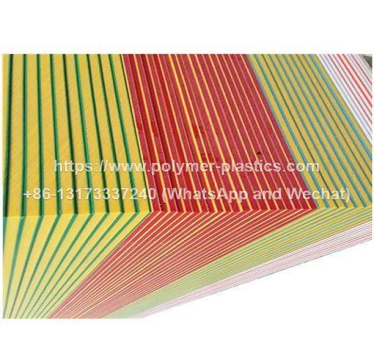 2440x1220mm orange peel texture color core 3 layer hdpe sheets