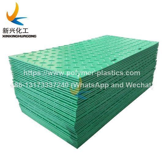 2feet x 8feet Black HDPE Diamond Plate Tread Medium Duty Ground Protection Mat