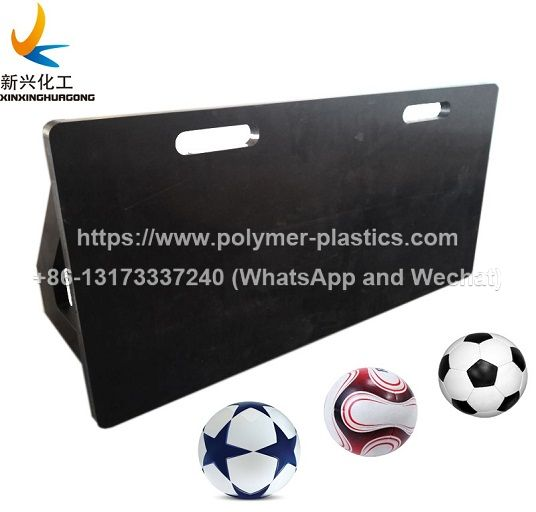 soccer training rebounder board, hdpe plastic rebounce return board