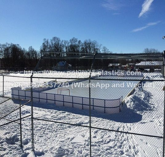 30x15m ice rink HDPE barrier dasher boards