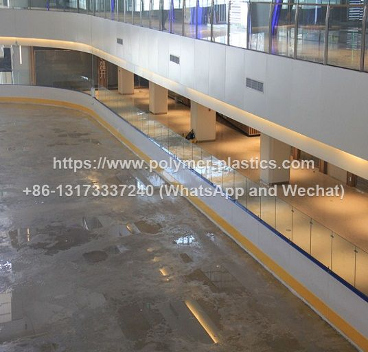 steel frame dasher boards system for ice hockey rink