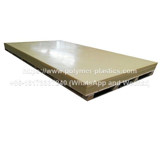 Natural Nylon Sheet 500mm x 300mm x 40mm