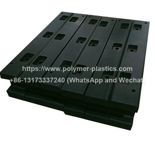 CNC machined UHMWPE block and cushion block