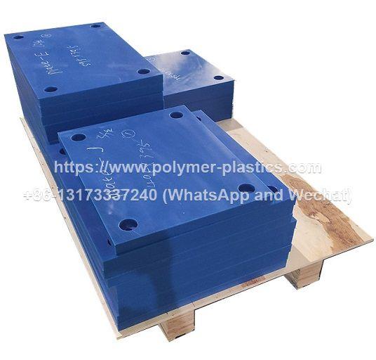 rubber fender blue color uhmwpe face pad